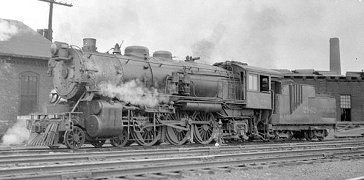 CB&Q steam passenger locomotive